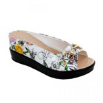 Helens Heart Womens CFW-8127-40 Floral Synthetic Wedge Casual Shoes