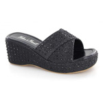 Helens Heart Womens CFW-A8983 Black Beaded Sandals Casual Shoes