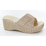 Helens Heart Womens CFW-A8983 Gold Beaded Sandals Casual Shoes