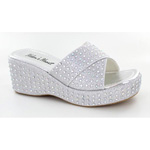 Helens Heart Womens CFW-A8983 Silver Beaded Sandals Casual Shoes