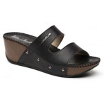 Helens Heart Womens CFW-T9108 Black PU Wedge Casual Shoes