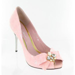Helens Heart Womens FS-279-A1 Pink Leather Sandals Prom and Evening Shoes