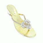 Helens Heart Womens FS-3238-3 Gold Synthetic Sandals Prom and Evening Shoes