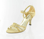 Helens Heart Womens FS-96038-13 Gold Synthetic Sandals Prom and Evening Shoes