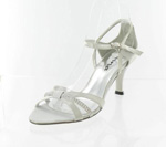 Helens Heart Womens FS-96038-13 Silver Synthetic Sandals Prom and Evening Shoes