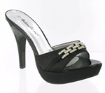 Helens Heart Womens FS-A2339-17 Black Synthetic Sandals Prom and Evening Shoes