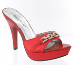 Helens Heart Womens FS-A2339-17 Red Synthetic Sandals Prom and Evening Shoes