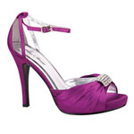 Helens Heart Womens FS-A8818-45 Purple Satin Sandals Prom and Evening Shoes