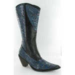 Helens Heart Womens LB-0290-10 Black/Blue Sequin Boots Casual Shoes