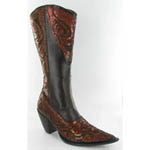 Helens Heart Womens LB-0290-10 Brown Sequin Boots Casual Shoes