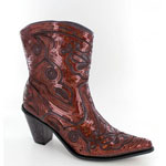 Helens Heart Womens LB-0290-11 Bronze Sequin Boots Casual Shoes