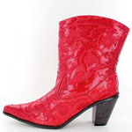 Helens Heart Womens LB-0290-11 Red Sequin Boots Casual Shoes