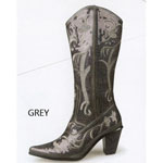 Helens Heart Womens LB-0290-12 Grey Sequin Boots Casual Shoes