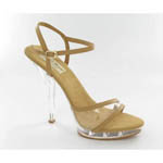 Helens Heart Womens PS-828-6 Tan Leather Sandals Prom and Evening Shoes