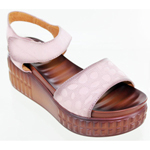 Helens Heart Womens cfw-l14 Pink Leather Sandals Casual Shoes