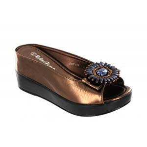 Helens Heart Womens CFW-8127-17 Bronze Beaded Sandals Casual Shoes