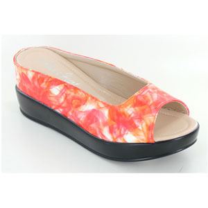 Helens Heart Womens CFW-8127-26 Orange Synthetic Wedge Casual Shoes