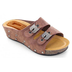 Helens Heart Womens CFW-B02 Brown Synthetic Sandals Casual Shoes