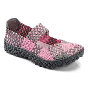 Helens Heart Womens CFW-S02 Pink Fabric Sneakers Casual Shoes