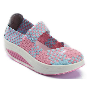 Helens Heart Womens CFW-S04 Pink Fabric Sneakers Casual Shoes