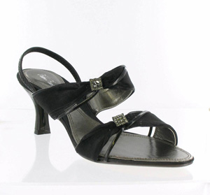 Helens Heart Womens FS-406-1 Black Synthetic Sandals Prom and Evening Shoes