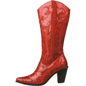 Helens Heart Womens LB-0290-12 Red Sequin Boots Casual Shoes