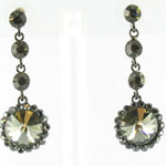 Jewelry by HH Womens JE-X001831 gunmetal Beaded   Earrings Jewelry
