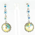 Jewelry by HH Womens JE-X001831 silver Beaded   Earrings Jewelry