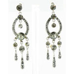 Jewelry by HH Womens JE-X001913 black diamond Beaded   Earrings Jewelry