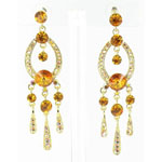 Jewelry by HH Womens JE-X001913 gold/topaz Beaded   Earrings Jewelry