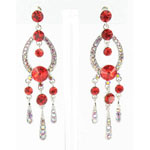Jewelry by HH Womens JE-X001913 red Beaded   Earrings Jewelry