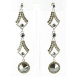 Jewelry by HH Womens JE-X002126 hematite Beaded   Earrings Jewelry