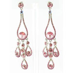 Jewelry by HH Womens JE-X002737 rose Beaded   Earrings Jewelry