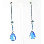 Jewelry by HH Womens JE-X003116 aqua Beaded   Earrings Jewelry