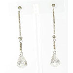 Jewelry by HH Womens JE-X003116 clear silver Beaded   Earrings Jewelry