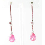 Jewelry by HH Womens JE-X003116 rose Beaded   Earrings Jewelry