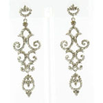 Jewelry by HH Womens JE-X004934 clear Beaded   Earrings Jewelry