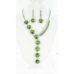 Jewelry by HH Womens NS-H003146 green Beaded   Necklaces Jewelry