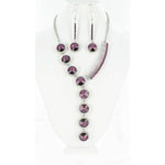 Jewelry by HH Womens NS-H003146 purple Beaded   Necklaces Jewelry