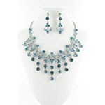 Jewelry by HH Womens NS-H005085 blue Beaded   Necklaces Jewelry