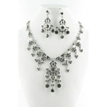 Jewelry by HH Womens NS-H1959 black Beaded   Necklaces Jewelry