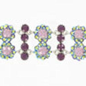Jewelry by HH Womens JB-P001968 purple Beaded   Bracelets Jewelry