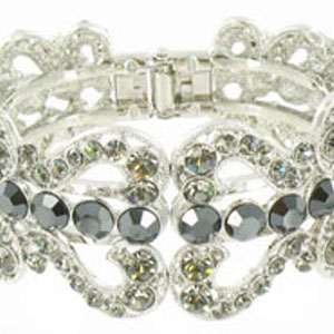 Jewelry by HH Womens JB-PD00337 hematite Beaded   Bracelets Jewelry
