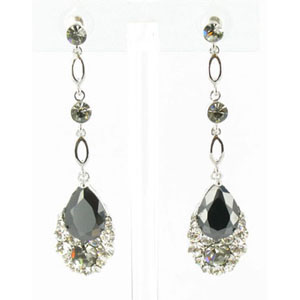 Jewelry by HH Womens JE-X001790 black Beaded   Earrings Jewelry