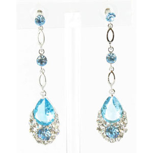 Jewelry by HH Womens JE-X001790 blue Beaded   Earrings Jewelry