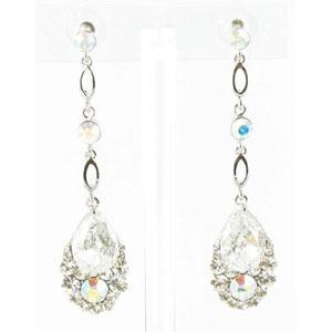 Jewelry by HH Womens JE-X001790 clear Beaded   Earrings Jewelry