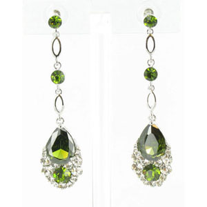 Jewelry by HH Womens JE-X001790 olive Beaded   Earrings Jewelry