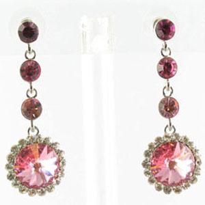 Jewelry by HH Womens JE-X001831 rose Beaded   Earrings Jewelry