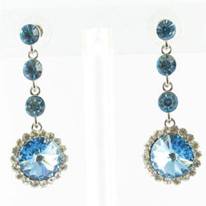 Jewelry by HH Womens JE-X001831 aqua Beaded   Earrings Jewelry