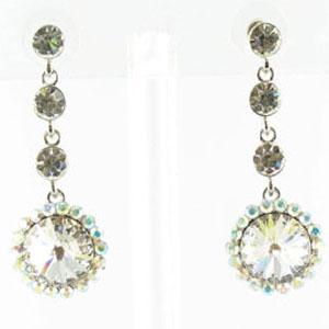 Jewelry by HH Womens JE-X001831 clear Beaded   Earrings Jewelry